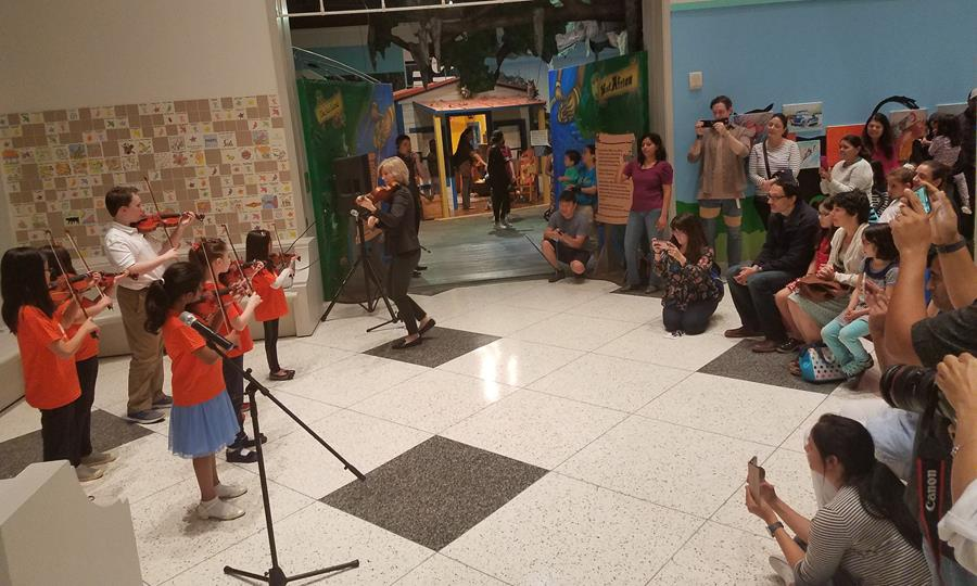 Vivaldi Strings performs at the Children's Museum