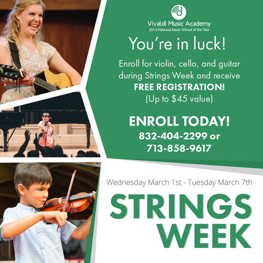 Violin lessons, Cello Lessons, Guitar Lessons at Houston's premier Music School, Vivaldi Music Academy