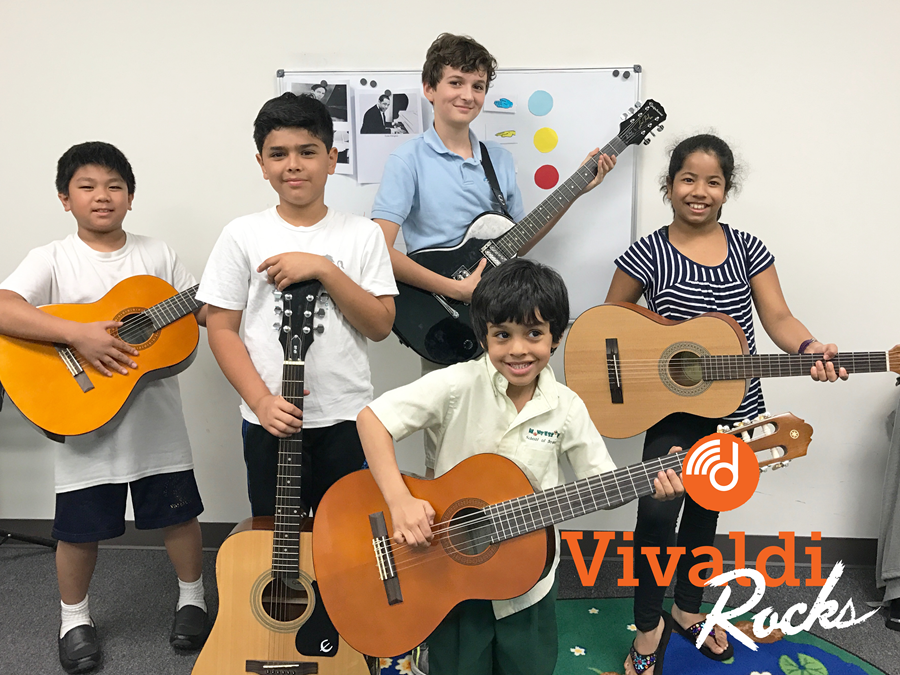 Vivaldi Rocks - Guitar performance class for students at Vivaldi Music Academy