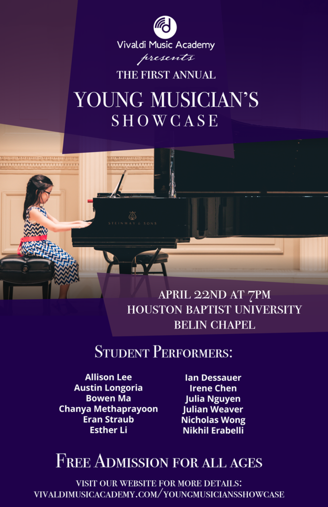 Vivaldi Music Academy's Young Musician's Showcase