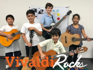Vivaldi Music Academy Guitar group class - Vivaldi Rocks