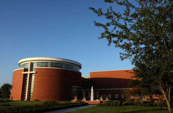 Outside of Houston Baptist University