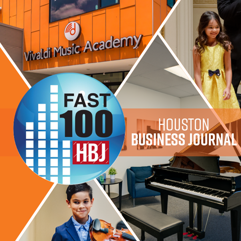 Vivaldi Music Academy Named as an Inc. 5000 & Houston Business Journal Fastest Growing Company for the second year in a row!
