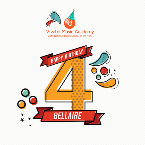 Happy Fourth Birthday Bellaire